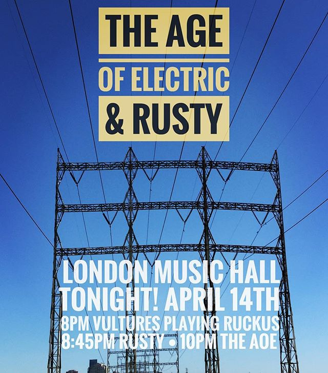 Insanely stoked to see Rusty play!!! @londonmusichall honoured to be concerting with them tonight!