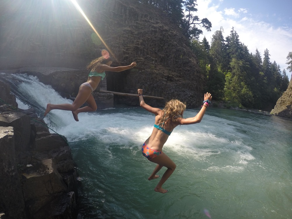 Swimming and Cliff Jumping