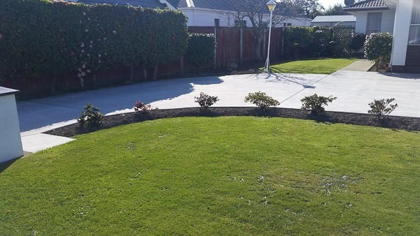 Plain Concrete driveway Christchurch NZ