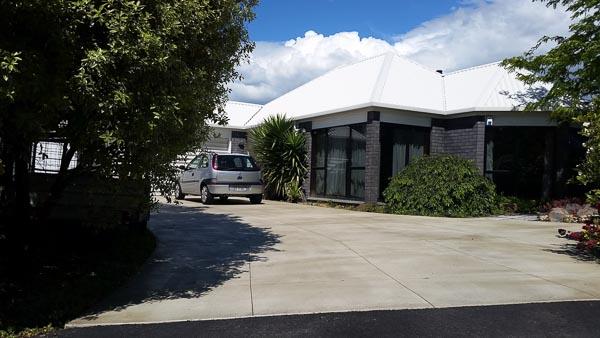 Cut concrete patio Christchurch NZ