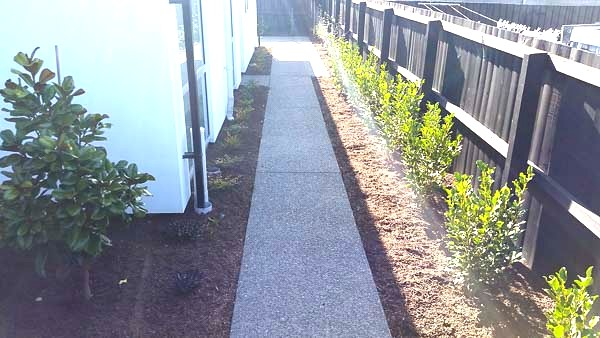 Exposed Aggregate Concrete Path