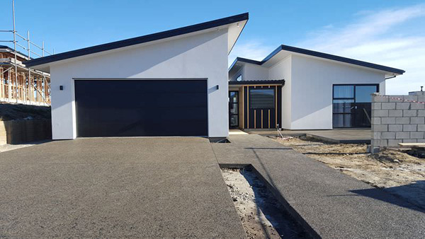 Black Exposed Aggregate Driveways Christchurch