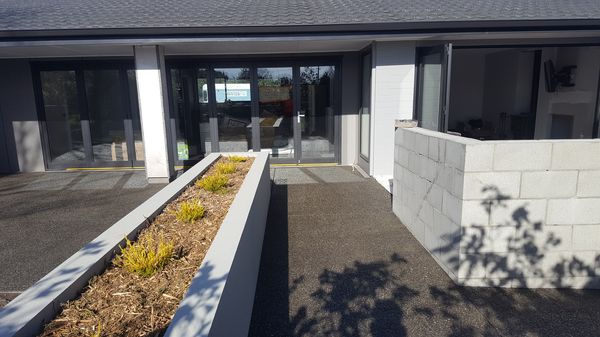 Christchurch exposed aggregate concrete paths patios
