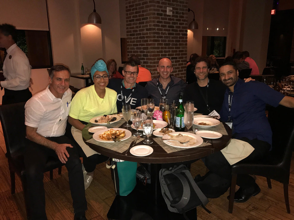 Dinner with: Left to right: Demian Coorey (Futurist Speaker) , Yassmin Abdul-Magied (Activist), Travis Bell (Bucket Lists), Tim Longhurst (Futurist), Michael Margolis (Anthropologist), Sam Cawthorn (Speakers Institute)