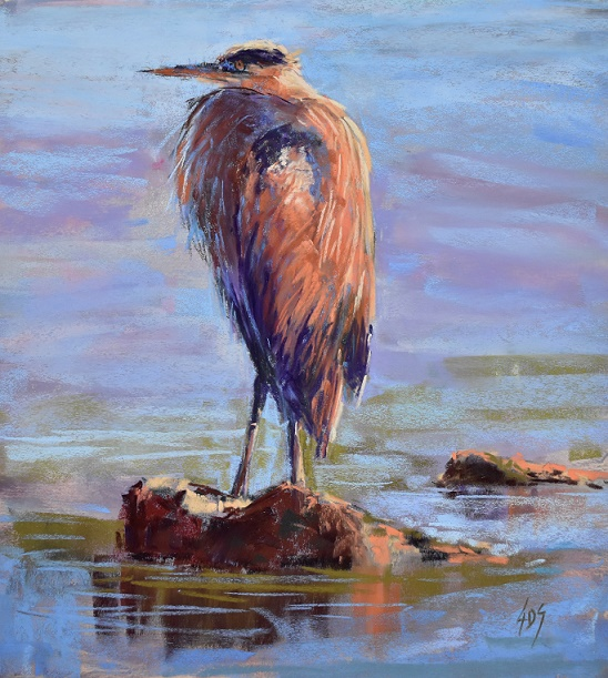 The famous Blue Heron that got so many compliments!