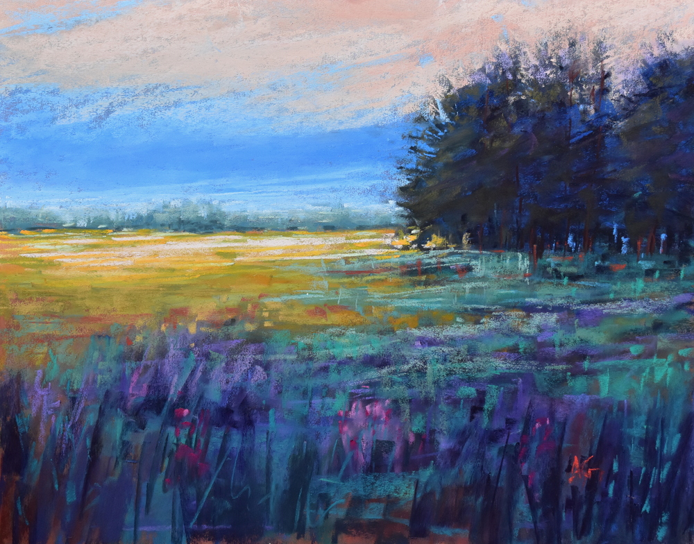 Lavender Dance. 11x14.