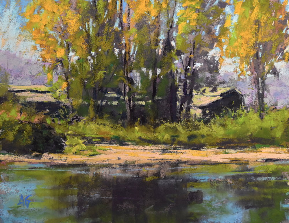 Across the river. 8x10. Sold.