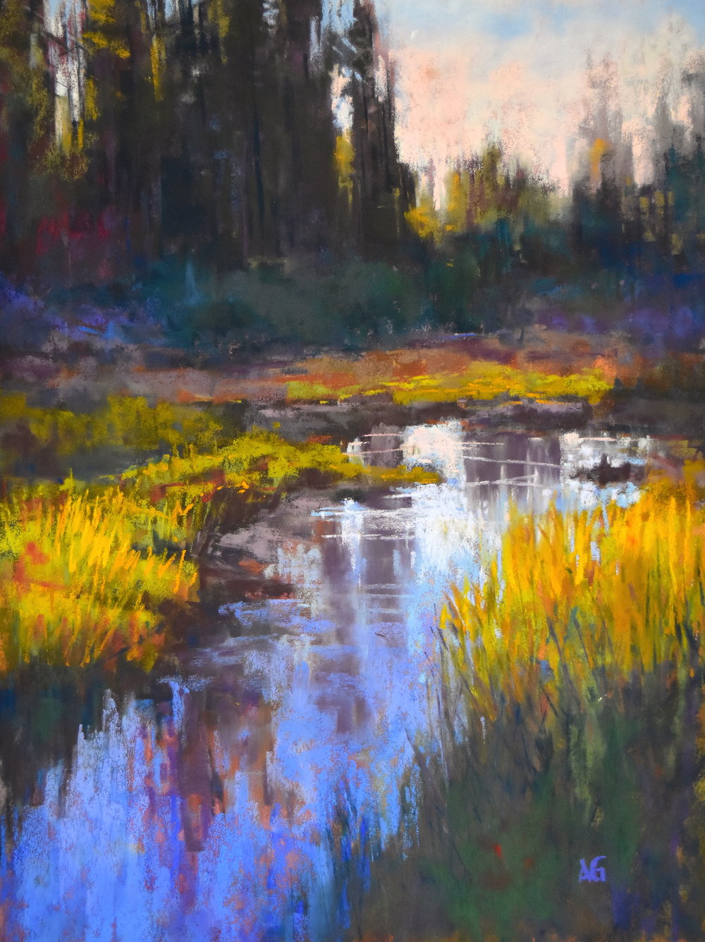 Beauty on the Wetlands. 9x12. Sold.