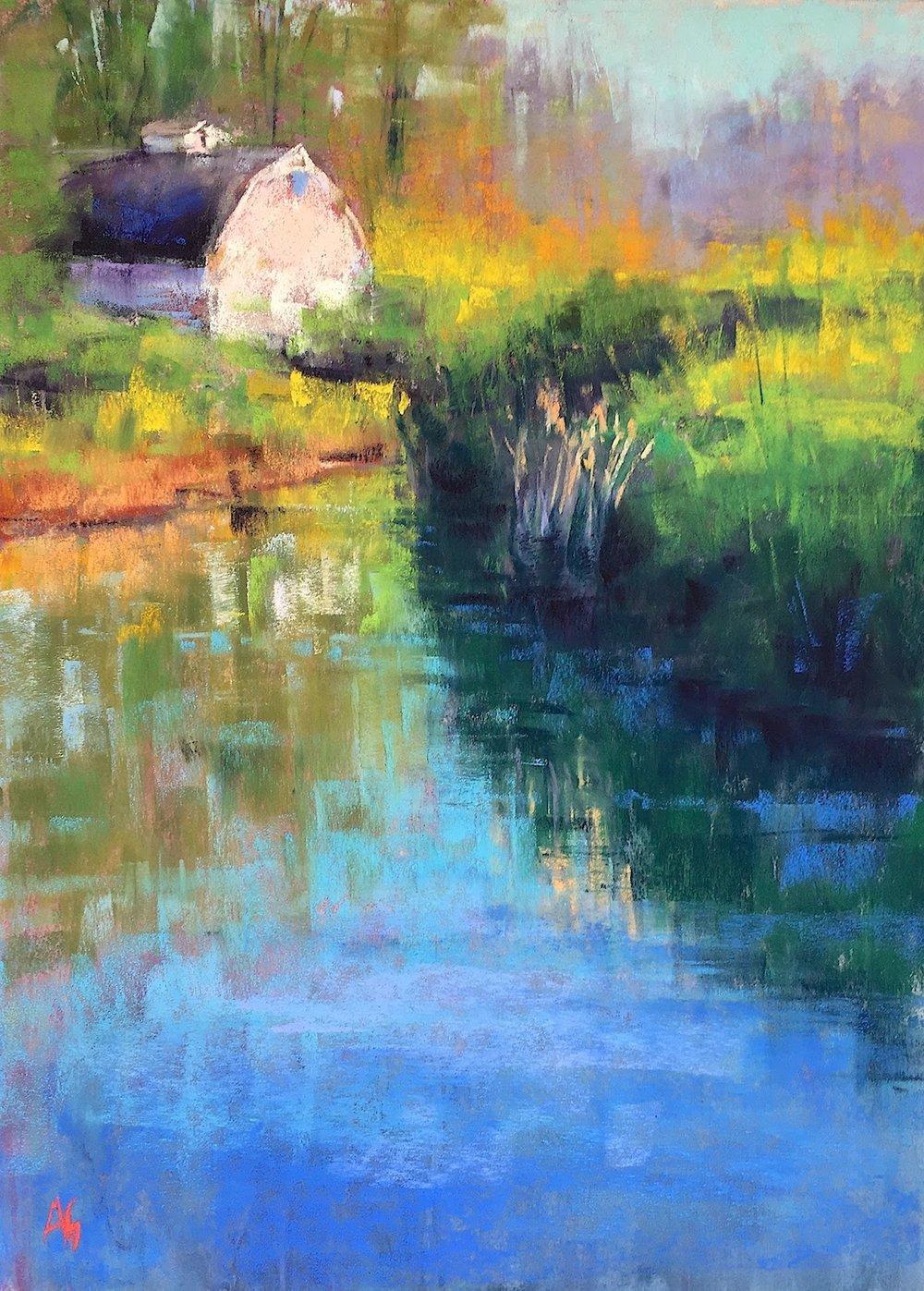 Mirror Pond. 9x12