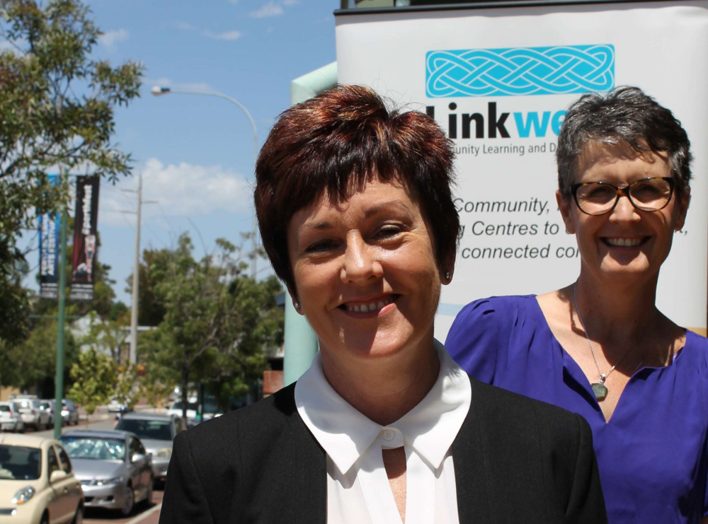 Nicky Howe (Chair of Linkwest) and Jane Chilcott (CEO of Linkwest). Picture: Cate Rocchi