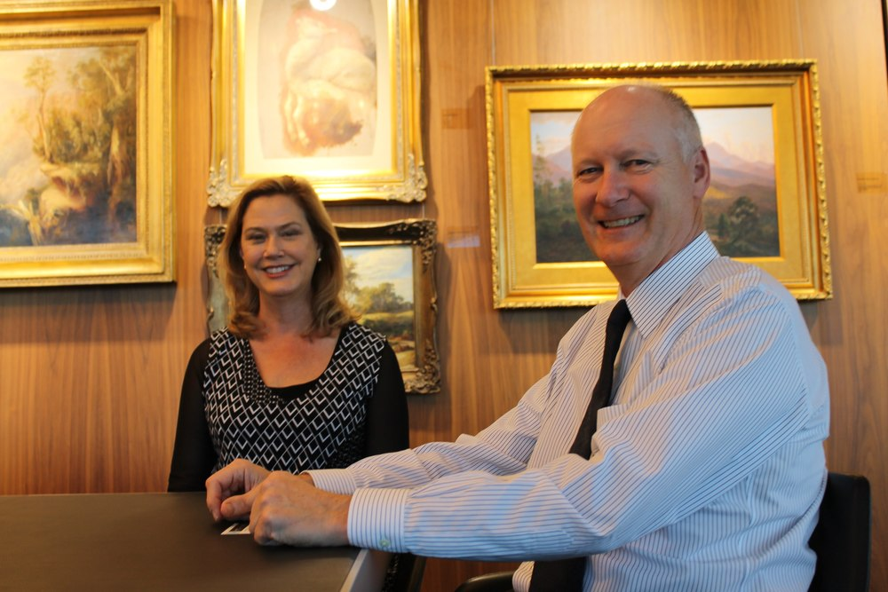 Photograph by Perth Media: Leadership WA's Robin McClellan with Wesfarmers' Richard Goyder