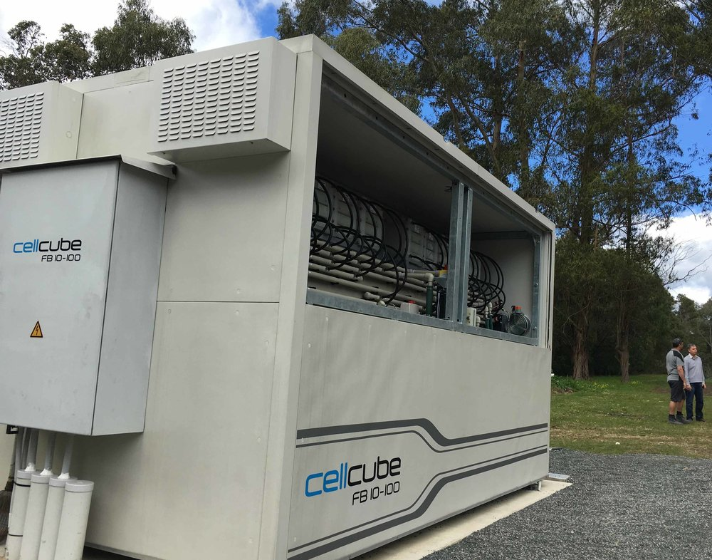 Integration of renewable energy on minesites and financing green energy solutions such as these vanadium redox flow batteries (made by Gildemeister) recently installed in Busselton, by VSUN Energy - the first of its kind in Australia -  will be on the agenda at the Energy and Mines Summit in Perth, June 28-30, 2017