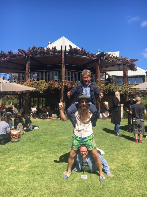 Mat Lewis on Top of Emerging Creativity in Margaret River, Western Australia, last week.