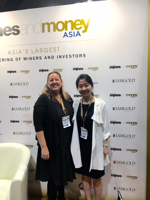 Perth Media CEO Cate Rocchi with S&P Global reporter Tracy Yang, in Hong Kong, last week.