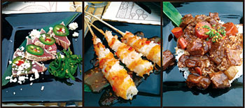 Chef Johnny Dilong serves authentic Hawaiian/Polynesian cuisine, including pepper seared tuna with jalapeños, coconut shrimp skewers and beef estofado.