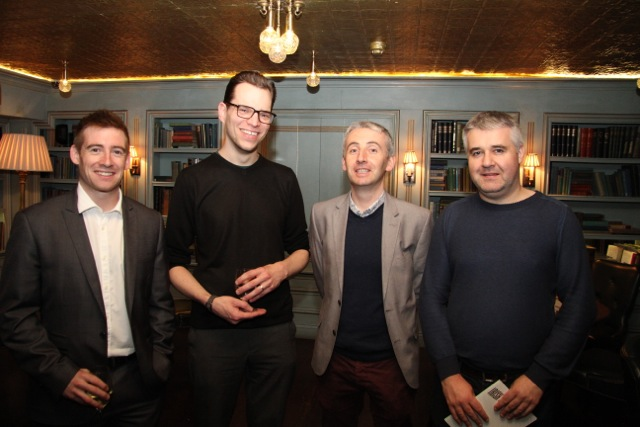 Ronan O'Sullivan with the sound team behind the Lenny Abrahamson film Room are Shane Flanagan, Niall Brady and Ken Galvin, all from Ardmore Sound in Co. Wicklow.