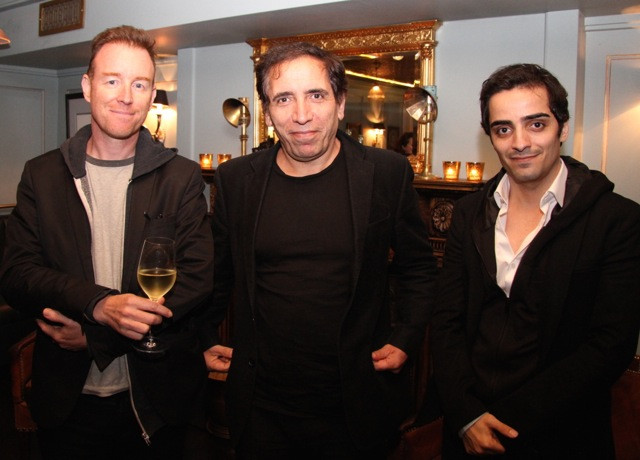 Television director Kieron J Walsh with Iranian filmmaker Mohsen Makhmalbaf and his film-maker son Maysam Makhmalbaf.