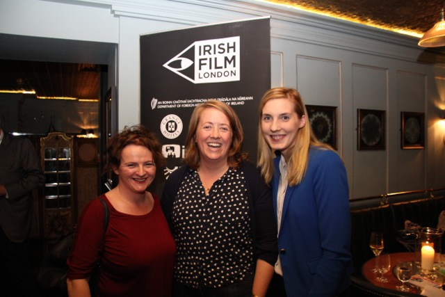 Production manager Tricia Perrott, Bafta Award winning producer Ger O'Flynn and Emer O'Shea of Element Pictures.