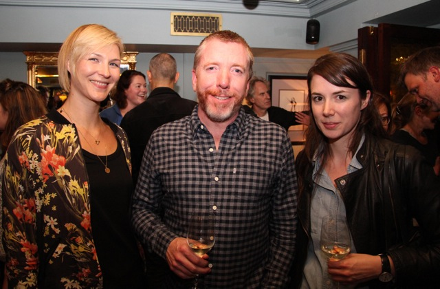 Emily Gotto of Protagonist Pictures (Acquisitions Executive) with Rory Gilmartin of the Irish Film Board and Camille McCurry of United Agents.