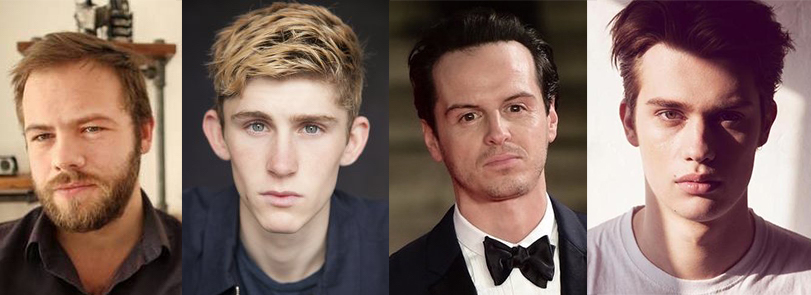 Cast members Moe Dunford, Fionn O'Shea, Andrew Scott and Nicholas Galitzine