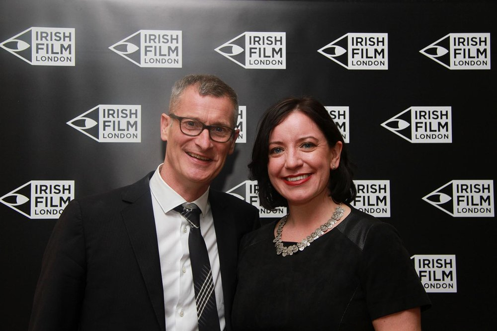 Irish Film London Directors Professor Lance Pettitt and Angela Sammon