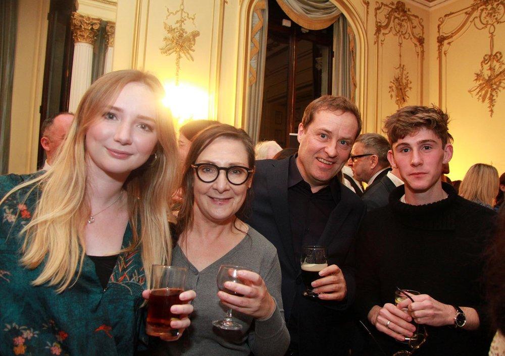 Ruby McClean, Pauline McLynn, Ardal O'Hanlon and Fionn O'Shea