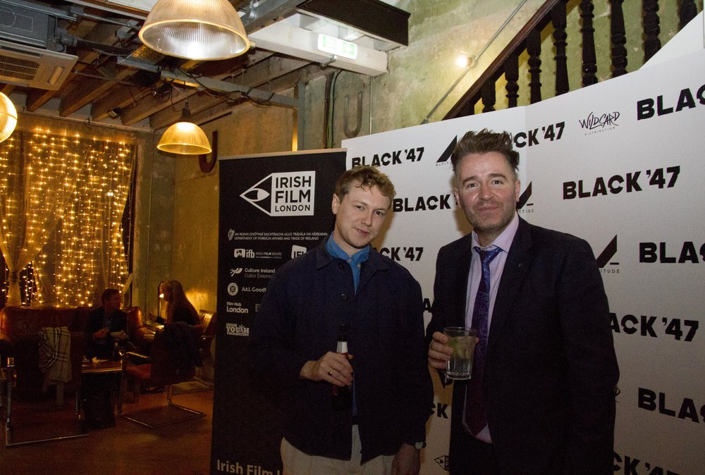 Black 47 London Premiere 2018 Photos courtesy of Noel Mullen Irish Film London 48 Dylan Haskins and Jarlath Regan.jpg
