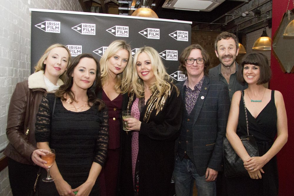 Black 47 London Premiere 2018 Photos courtesy of Noel Mullen Irish Film London 53 Siobhan Conaty Kelly O'Connor Laura Whitmore Roisin Conaty Ed Byrne Chris O Dowd and Dawn O Porter.jpg