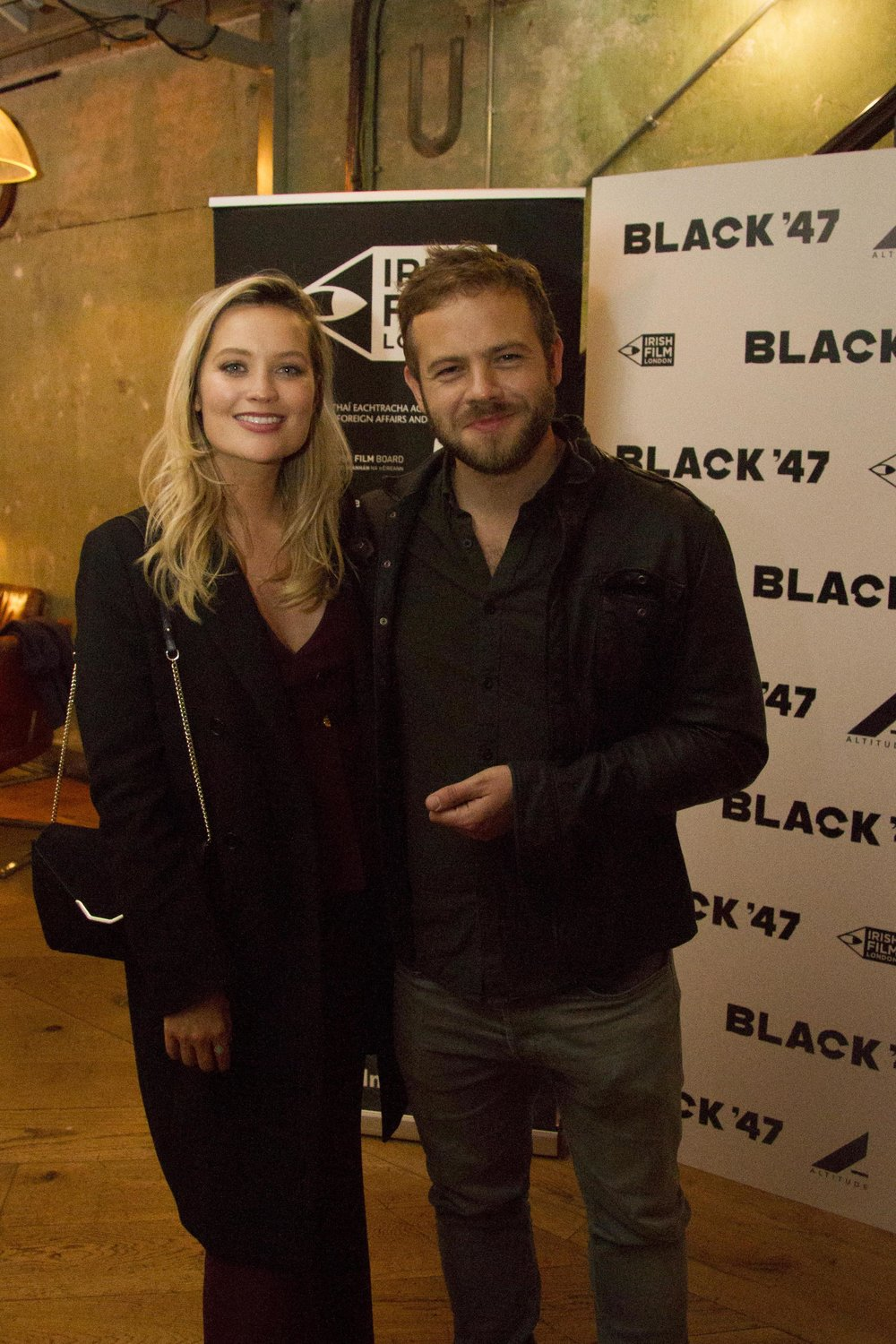 Black 47 London Premiere 2018 Photos courtesy of Noel Mullen Irish Film London 67 Laura Whitmore and Moe Dunford.jpg