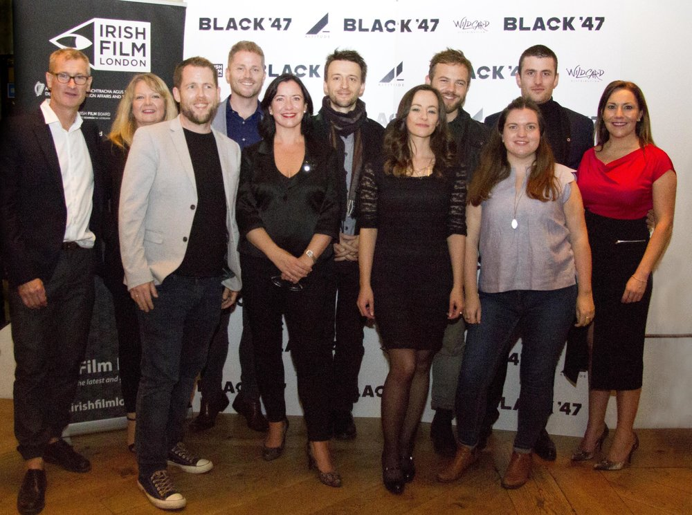 Black 47 London Premiere 2018 Photos courtesy of Noel Mullen Irish Film London 73 Lance Pettitt Sinead Smith Macdara Kelleher Jonathan Loughran Angela Sammon Lance Daly Kelly O Connor Moe Dunford Sile Culley James Frecheville and Claire Turvey.jpg