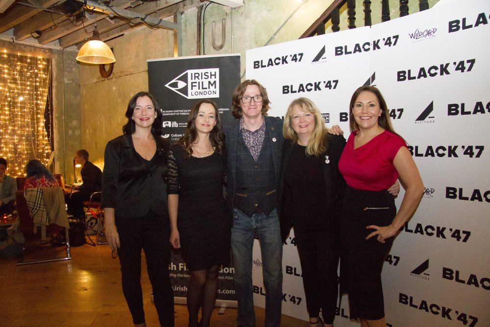 Black 47 London Premiere 2018 Photos courtesy of Noel Mullen Irish Film London 75 Angela Sammon Kelly O'Connor Ed Byrne Sinead Smith and Claire Turvey.jpg