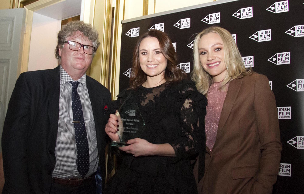 Bernard Purcell from The Irish World with Nessa Wrafter and Clancie Brennan.jpg