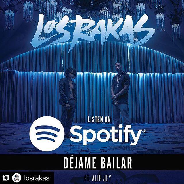 "Check out my artists @losrakas debut single off their upcoming album #LosRakas: ""DejameBailar"" feat. @alihjey produced by @andrestorrest. Had the pleasure of engineering some of this project! .. Stay tuned for the video!  #soyraka #rakastylo #dejamebailar #spotify #music  #repost  NUESTRO NUEVO SENCILLO EN @spotify ""DÉJAME BAILAR"" BRAND NEW RAKA MUSIK #DESCARGALOYA"