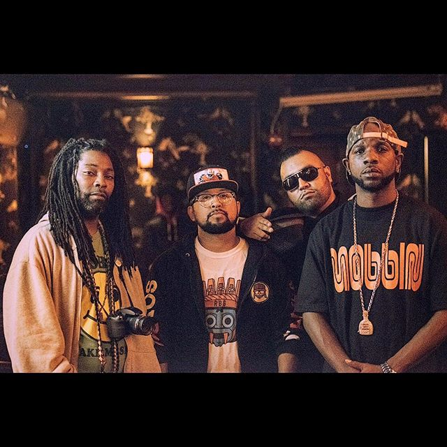Chilling at the @showdown6th for #DonP album release  party by @morphlifedan with the ninja @raka_angelo_bqm of @bqmpire and the #homies! shot out @ricky.rozay.sf #soyraka #rbgclothing #heismanlegends #BOOM.. . . 📸: @rhyss of @chasingrooftops