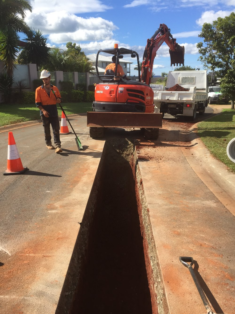 Road works for a 18 lot sub division in Redland Bay