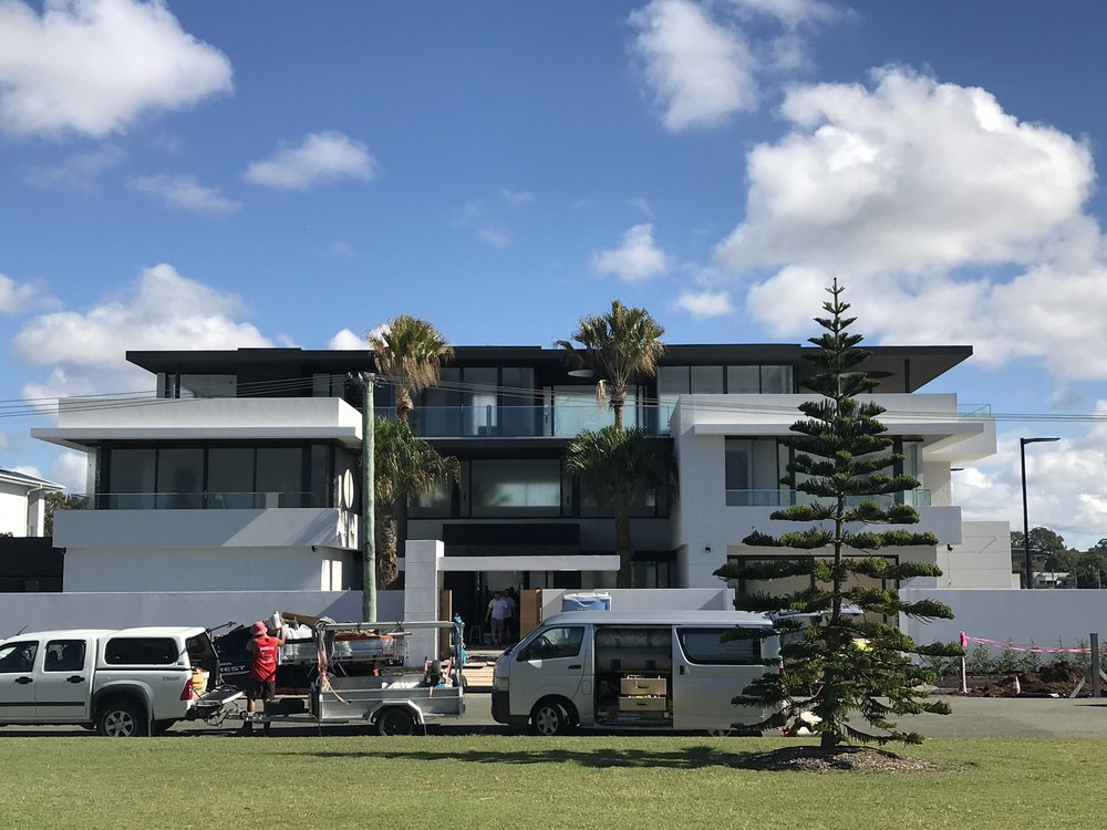 Luxury house on the gold coast which was built over 3 blocks in surfers paradise