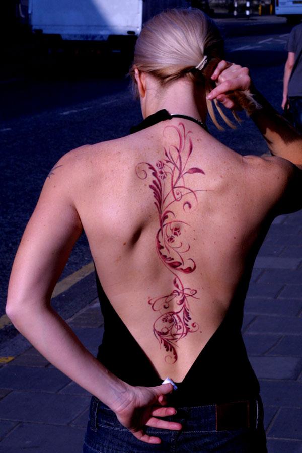 Sepia floral backpiece