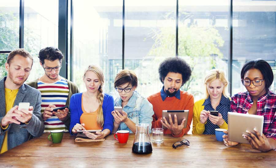Youths actively engaged on social media