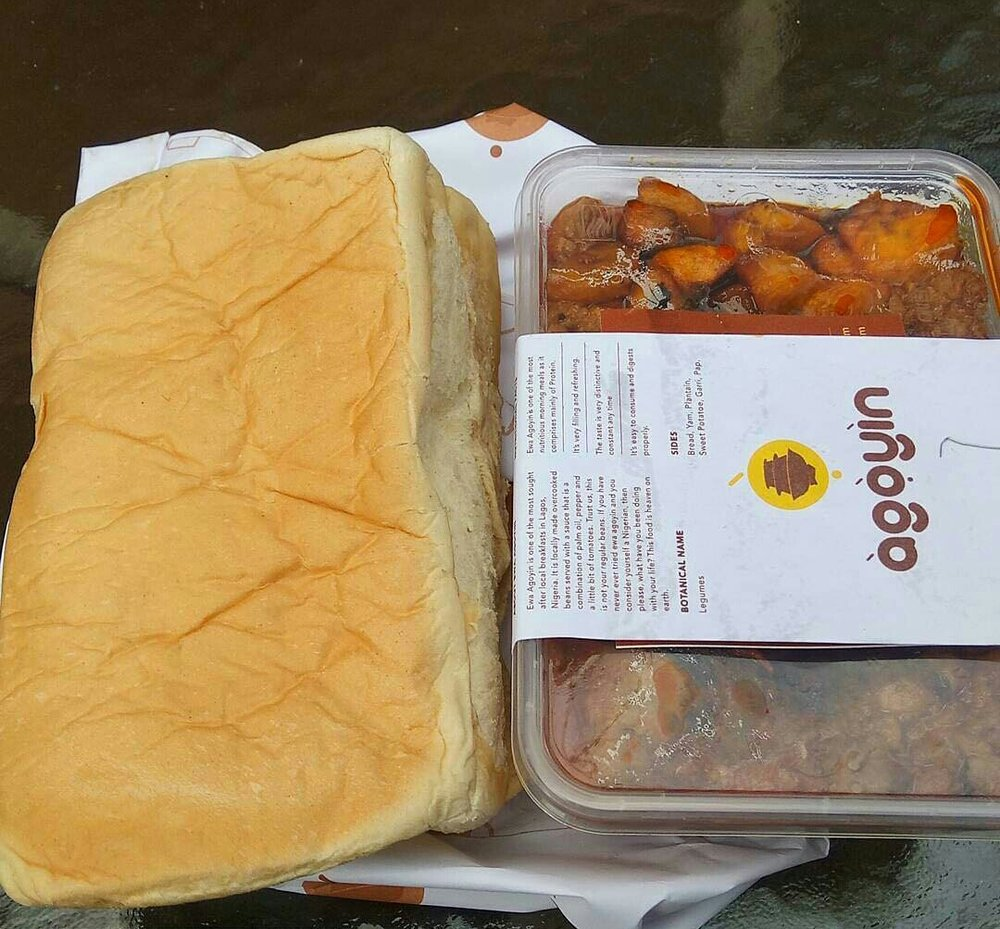 Ewa Agoyin and Agege Bread from Agoyin Cuisines