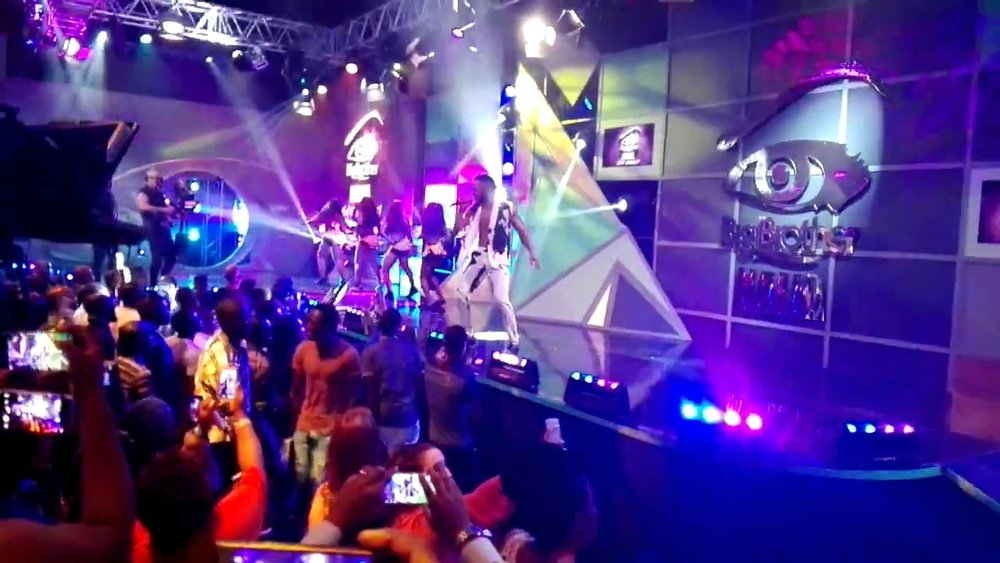 Nigerian Musician, Flavour on Stage at the Big Brother Nigeria Opening Party