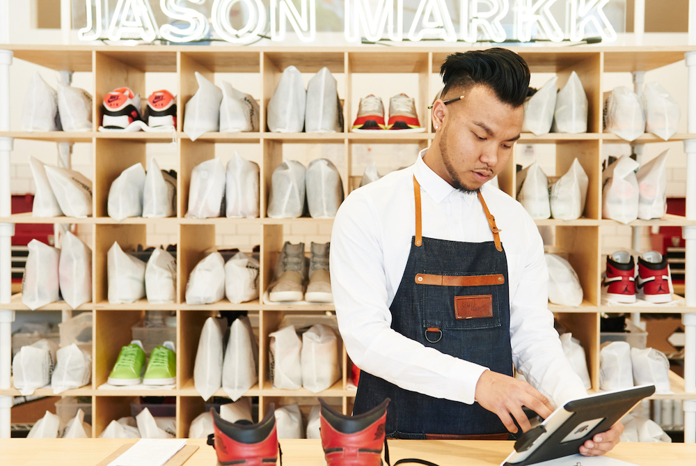 An Attendant at the Jason Markk's Flagship, Los Angeles // Source: Psfk.com
