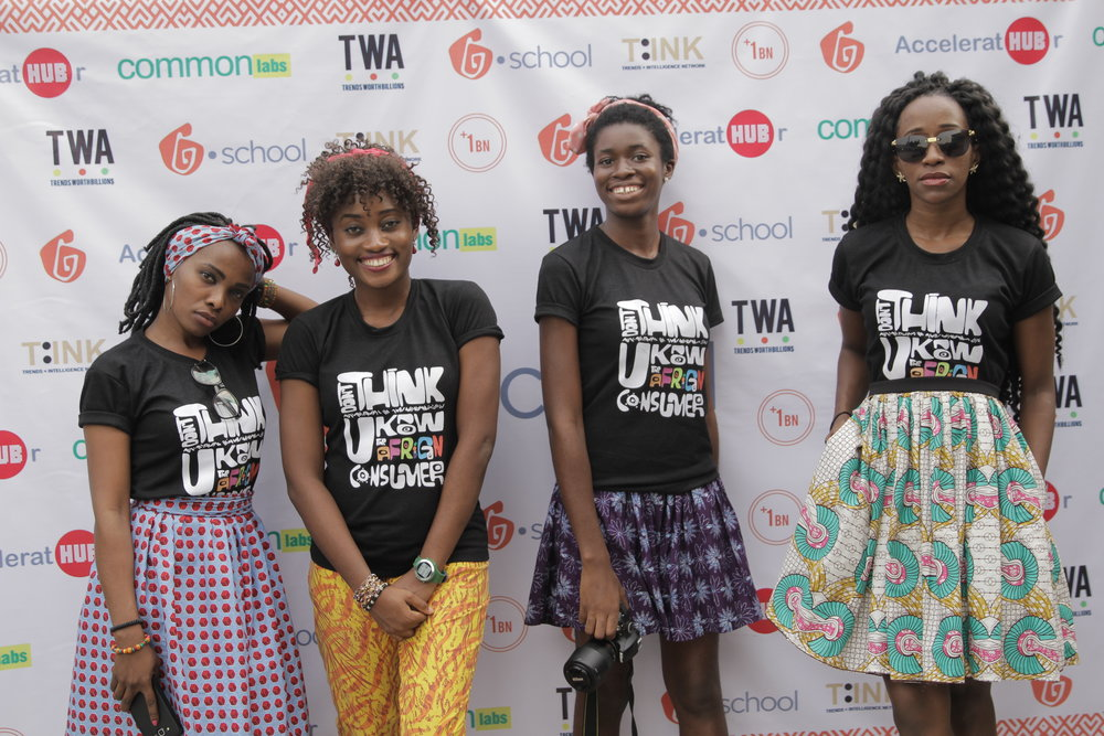 TINK Africa Team (Lady Soliders) // [Left to Right] Mercy Frank, MJ, Iju and Meme