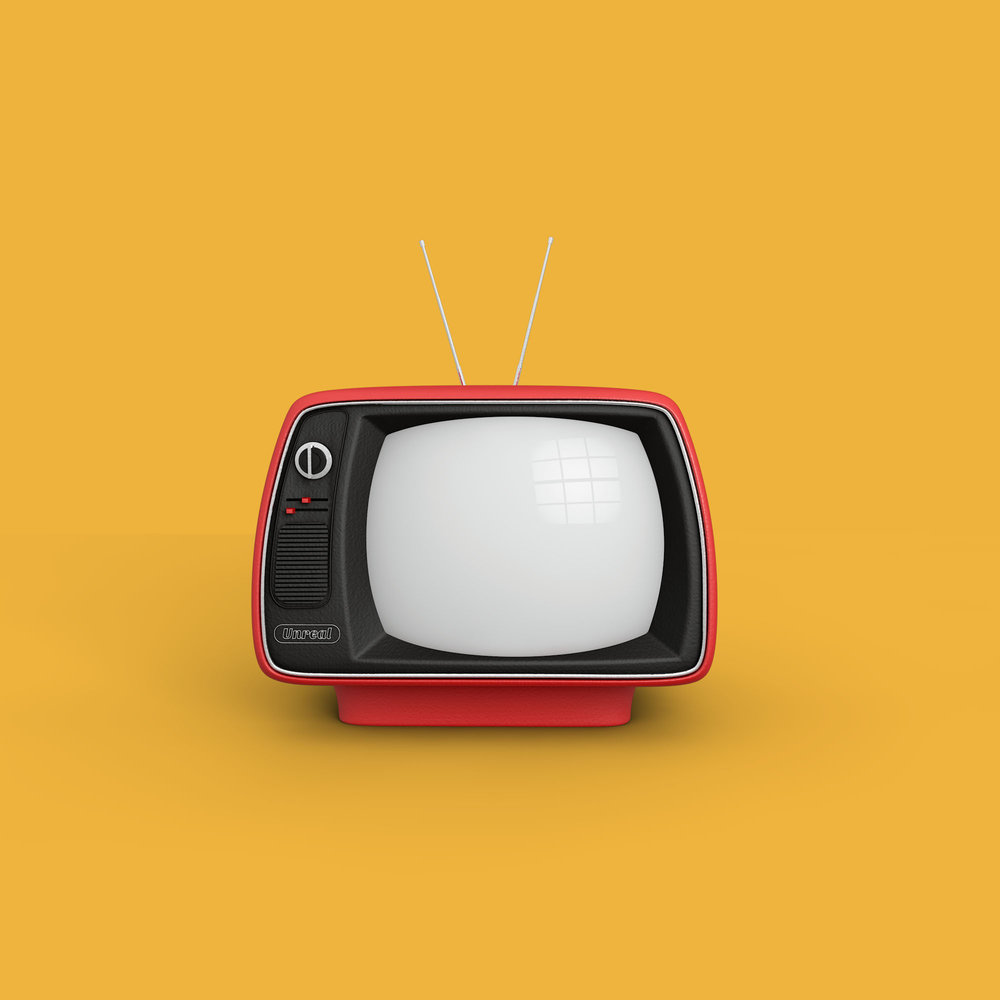 Retro Television Set // Source: turbosquid.com