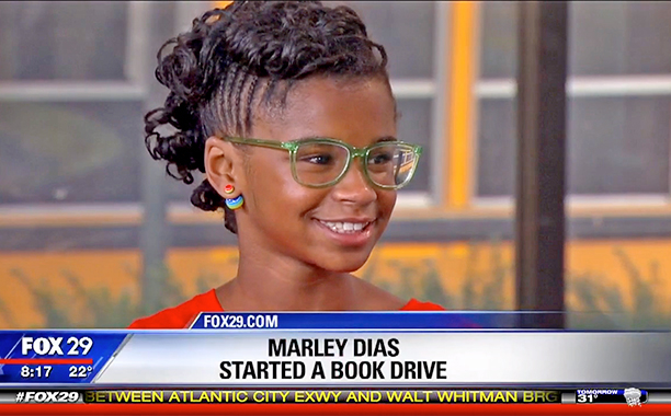 MARLEY DIAS BEING INTERVIEWED FOX 29
