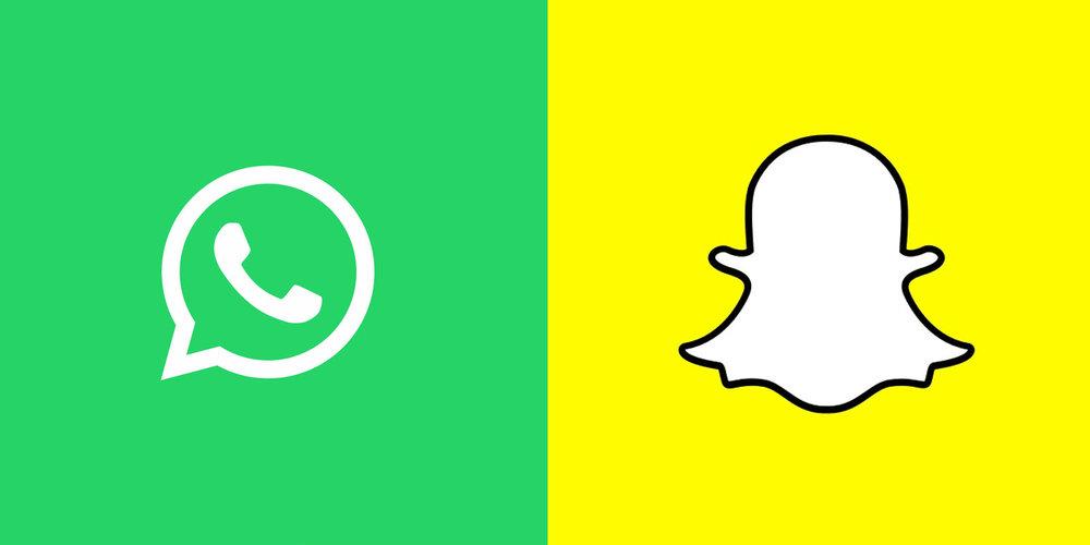 WhatsApp-Snapchat faceoff via thenextweb.com