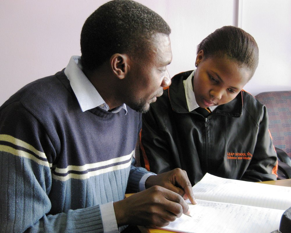 Tutor and Student via teachwithafrica.org