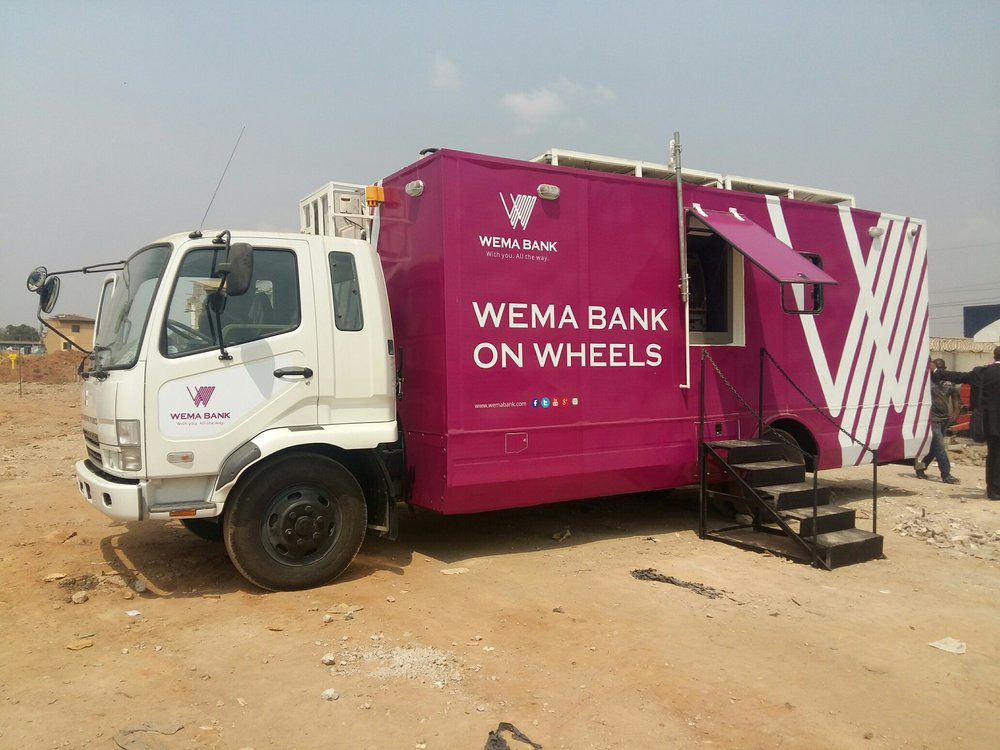 Wema bank on wheels // Photo Via trailblazersng.com