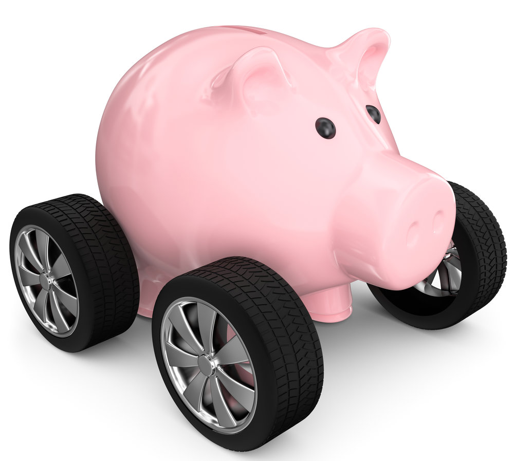 Piggy Bank on Wheels
