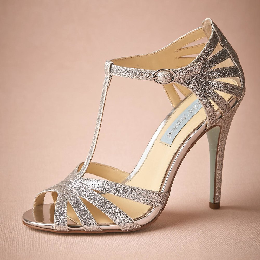 T-STRAP HEELED SANDALS