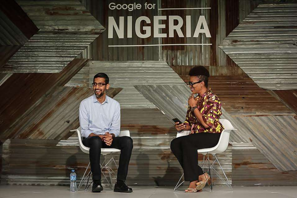 GOOGLE CEO, SUNDAR PICHAI (left)